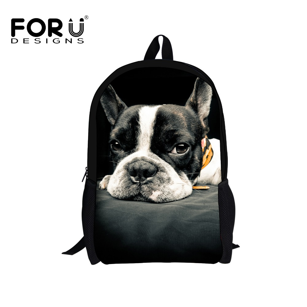 Cute Black Dog School Bags for Teenage Girls Children 3D Animal Backpack Student Book Bag Wholesale Kids Child Schoolbag Mochila