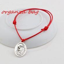 Хит! 2 шт регулируемые браслеты красные воски веревка сплав