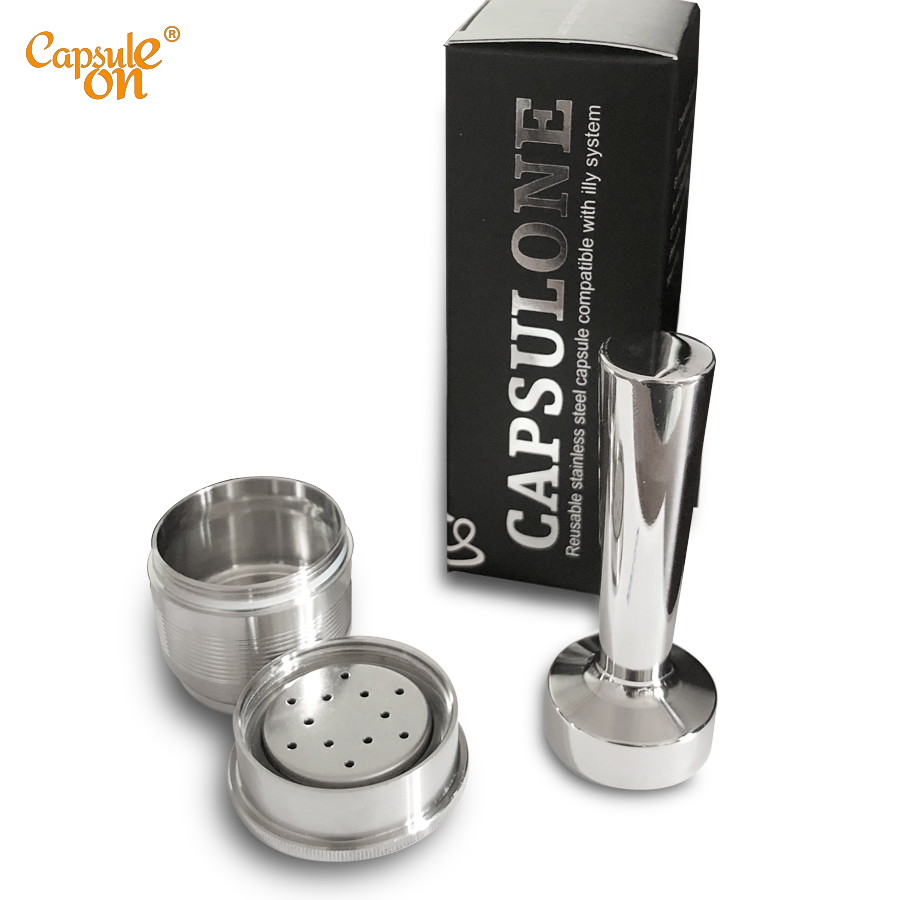 Capsulone/Compatible With Illy Coffee Machine Maker/STAINLESS STEEL Metal Refillable Reusable Capsule2 Fit For Illy Cafe Capsule