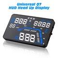"""Universal Q7 5.5 """"Auto Car GPS HUD Cabeça Up Display Velocímetros Excesso de Velocidade Aviso Dashboard Ventosa Projetor"""
