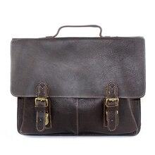 Top Leather Medium Handbags Hard Coffee Cover Style Messenger Men Bag Business Men Vintage Handbag Shoulder Bag for Men XS9112