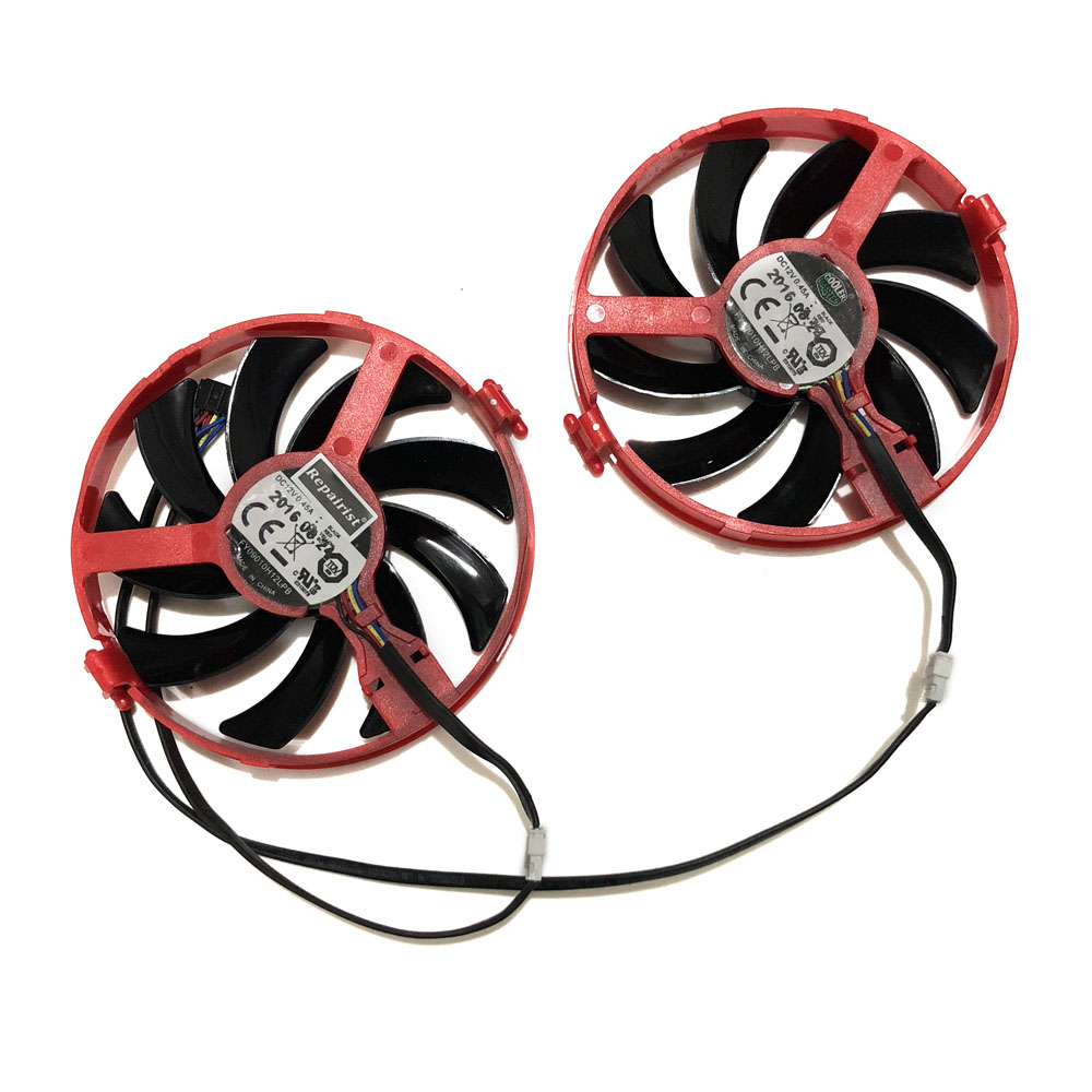 2pcs/set XFX RX460 GPU VGA Cooler FY09010H12LPB/A Cooling Fan For Radeon RX 460 rx-460-2gb/4GB Grahics Card As Replacement image
