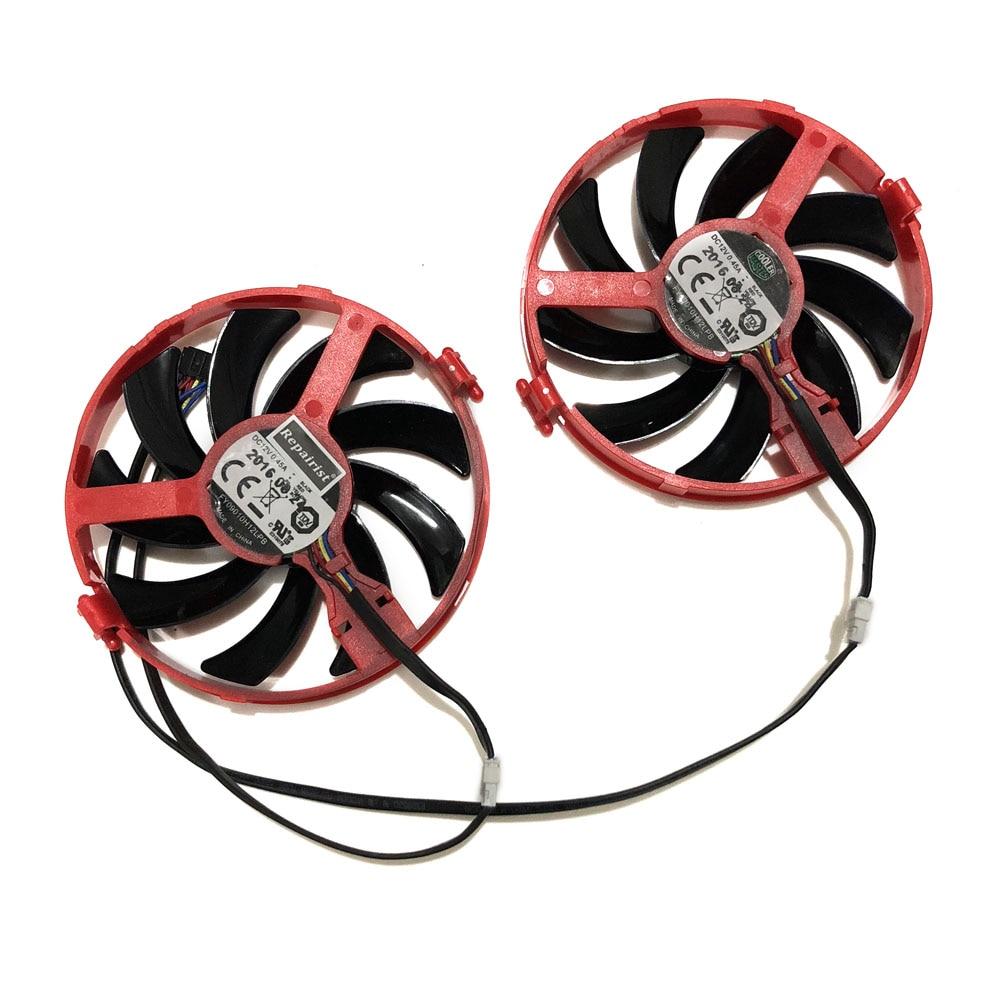 2pcs/Set XFX RX460 GPU VGA Cooler FY09010H12LPB/A Fan For Radeon Rx-460-2gb/4GB Grahics Card As Replacement