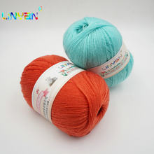 3 pieces*50g Yarn for knitting Hermelin flocking filament Hand woven thread Yarn for Hand Knitting wool yarn crocheting Mink t7(China)