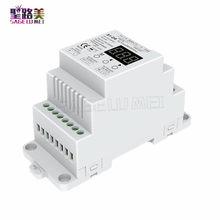 Trilho din AC100-240V 288w 2 canais triac dmx dimmer, saída de canal duplo silício dmx 512 controlador S1-DR