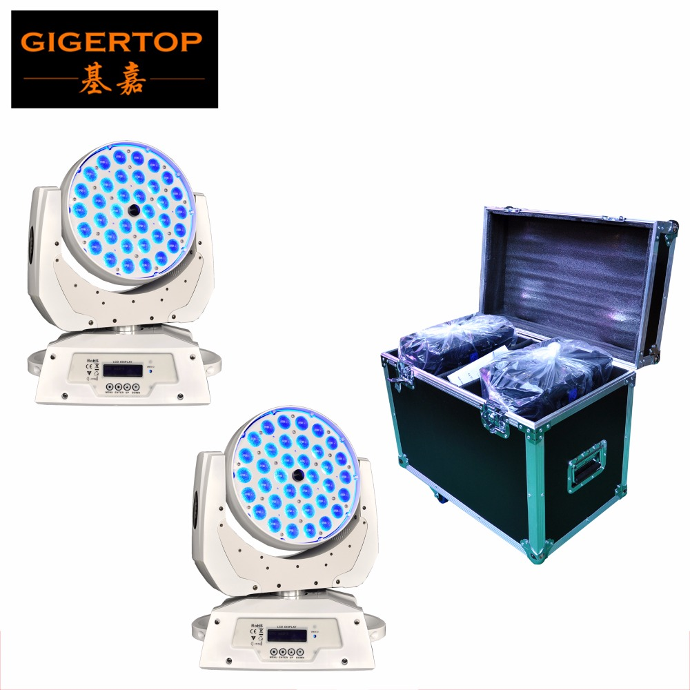 Flightcase 2IN1+2pcs/lot 36*10W Zoom Led Moving Head Light White Case Wash Effect DMX 512 14CH TFT LCD Touch Control DisplayFlightcase 2IN1+2pcs/lot 36*10W Zoom Led Moving Head Light White Case Wash Effect DMX 512 14CH TFT LCD Touch Control Display