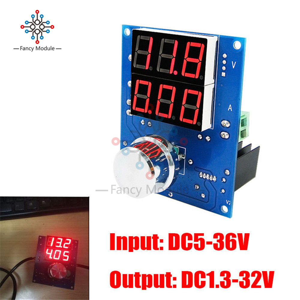 XH-M403 DC-DC Digital Voltage Regulator Buck Step Down Power Supply Module 5-36V to 1.3-32V Over Temperature ProtectionXH-M403 DC-DC Digital Voltage Regulator Buck Step Down Power Supply Module 5-36V to 1.3-32V Over Temperature Protection