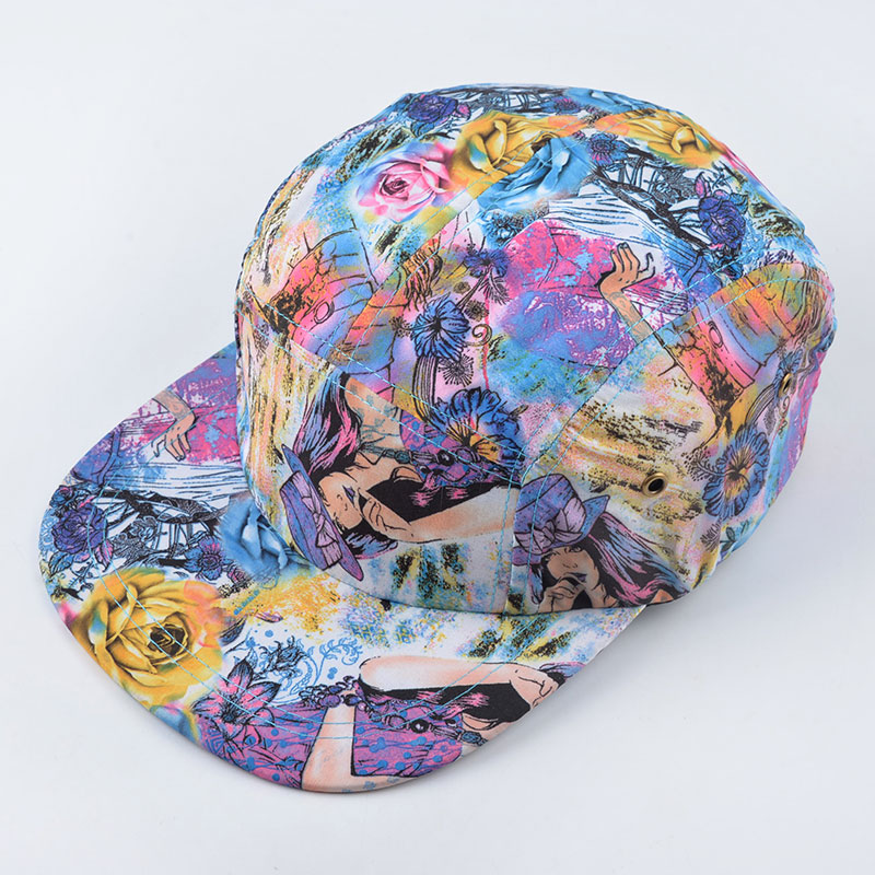 summer style Better quality 5 panel cap hat classic floral strapback bone  five panel snapback gorro hip hop hats for men women-in Baseball Caps from  Apparel ... dd2a832c4137