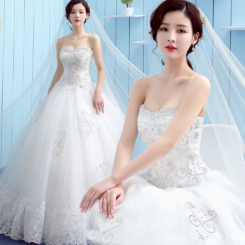 Vintage Wedding Dresses For Sale South Africa: Lamya Appliques Beading Crystal Wedding Gown 2017 Plus