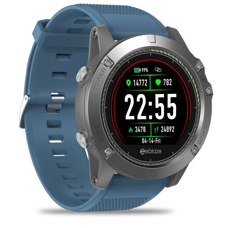 Nouveau Zeblaze VIBE 3 HR IPS écran couleur sport Smartwatch moniteur de fréquence cardiaque IP67 étanche montre intelligente hommes pour IOS et Android-in Montres connectées from Electronique    3