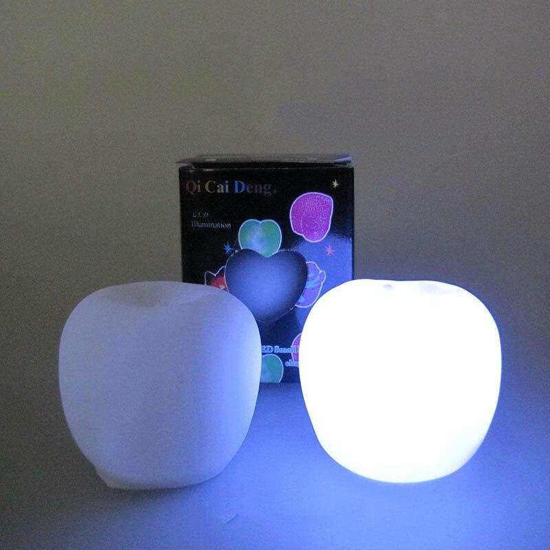 Neue leuchtende apple lampe flash bunte beleuchtung nachtlicht obst ...