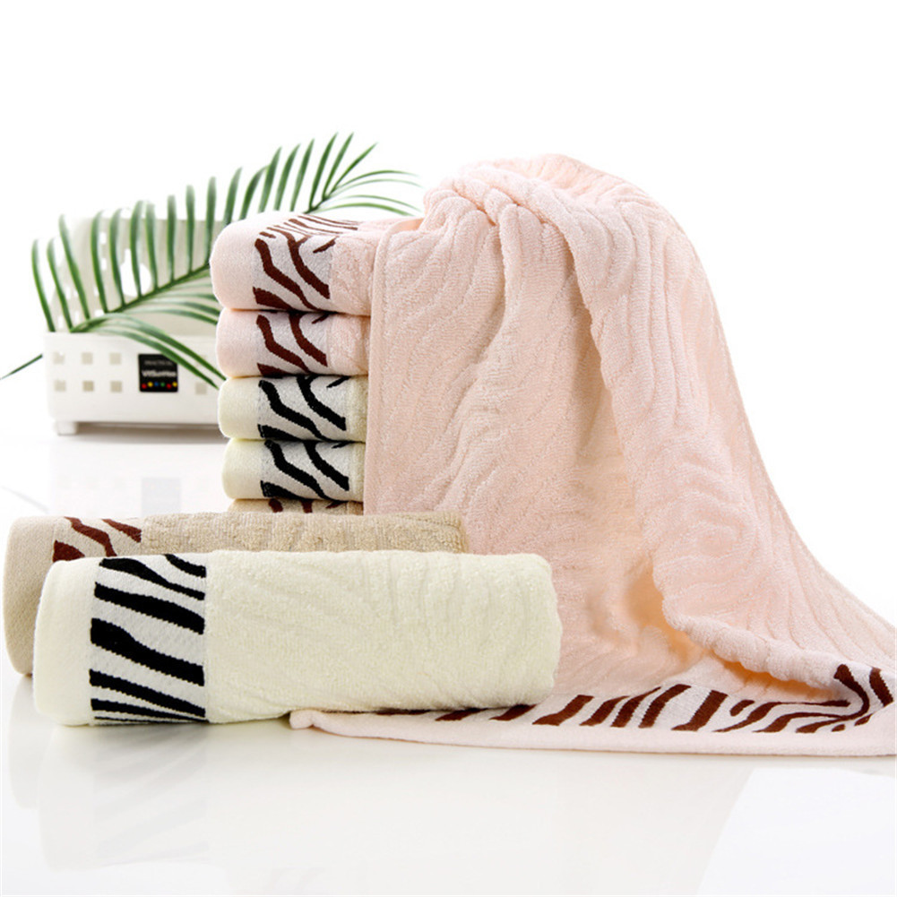 30x70cm Thick Luxury Cotton Bathing Towels Solid SPA Bathroom Beach Terry Family Bath To ...