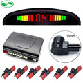 16mm Original Flat Parking Sensors, Car LED Parking Sensor Front Rear 6 Sensors For All Cars Reverse Radar Monitor System