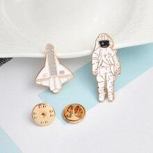 6pcs/set Space Robot Brooches