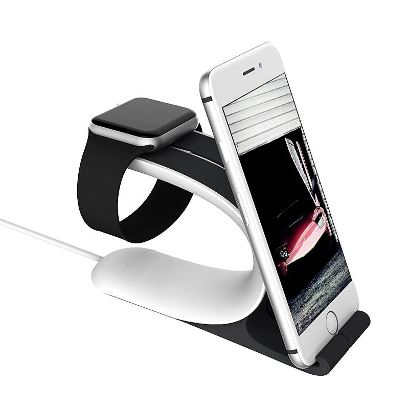 Galleria fotografica For Apple Watch Charging Stand Mount Charge Dock for iPhone 6 6s Plus iPad Mobile Phone Tablet Smartphone Desk Holder