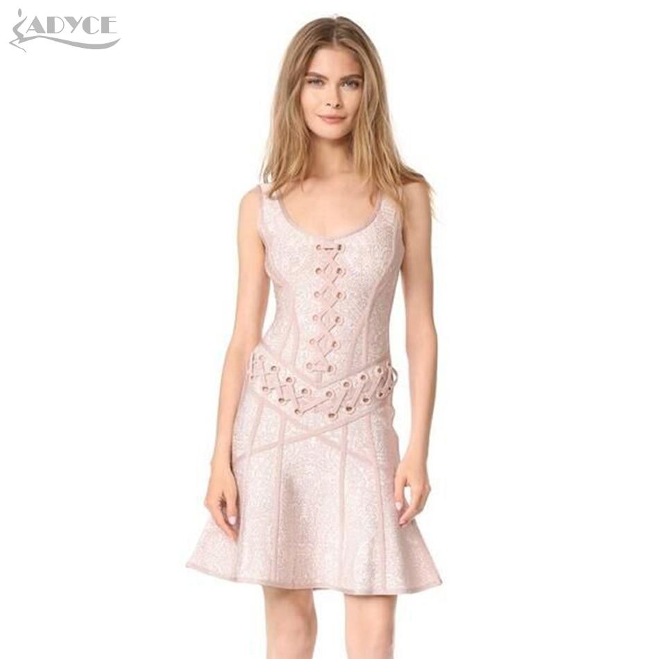 ADYCE 2018 High Quality Chic Bandage Dress Casual Woman ...