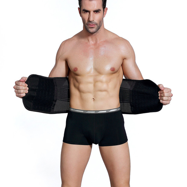 Men Body Shapers Belt Compression Corset Slimming Belts Fitness Girdle Waist Cincher Waist Trimmer Abdomen Fat Burning Tummy 1