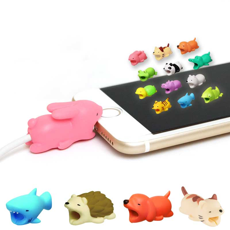 Selfless Cable Winder Bite 5pcs/lot Cute 3d Cartoon Usb Charger Data Cable Cord Protector For Iphone 8 7 6 Usb Cable Protection Refreshment Cable Winder