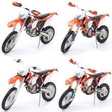 1/12 automaxx 350 EXC-F exc diecast escala modelos sujeira moto cruz enduro bicicleta & veículo miniatura brinquedo da motocicleta para crianças réplica