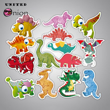 14pcs/lot Waterproof Stickers Jurassic dinosaur decal Kingdom doodle 2 Graffiti toy World For Moto car suitcase Fallen Notebook(China)