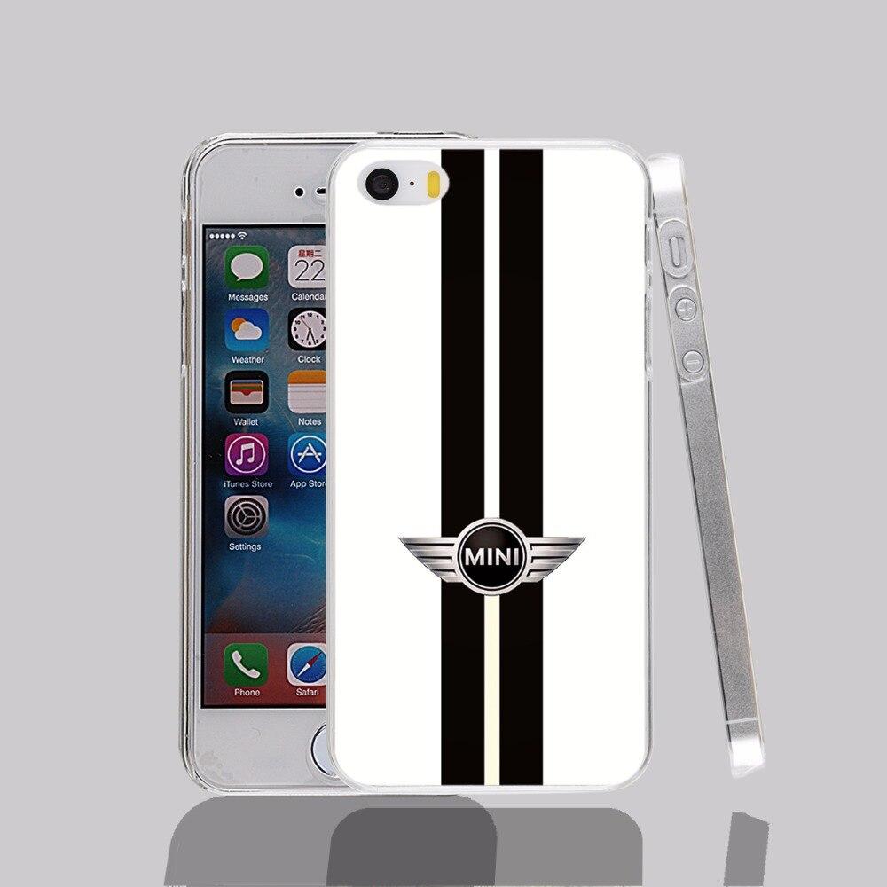 14292 Mini Cooper Stripes transparent Cover cell phone Case for iPhone 4 4S 5 5S 5C 6 6S Plus 6SPlus