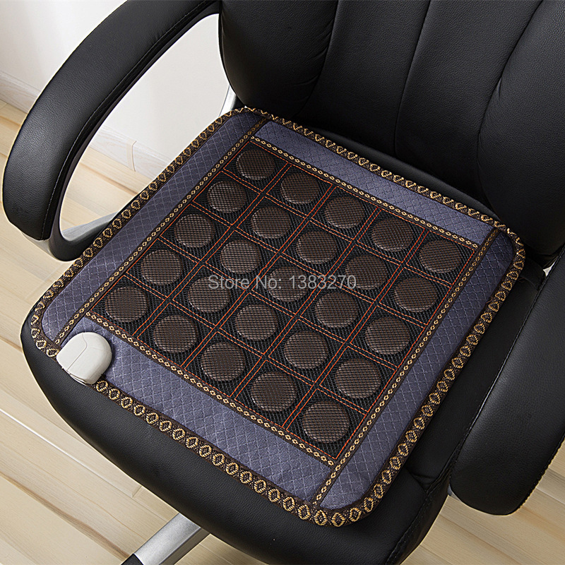 Electric heated seat cushion tourmaline health care massager heated sofa cushion 45X45CM hanriver massager cushion for shakti