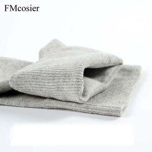 Image 5 - 6 ペア春メンズ綿の靴下高品質のロットの靴下 100 快適な通気性の男性 meia sokken 黒、白グレー