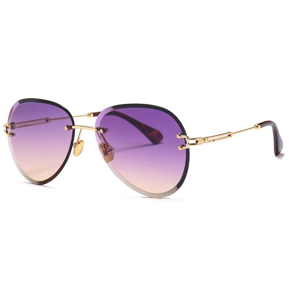Oculos De Sol Retro Multicolor Gradient Women Rimless Sunglasses Mirrored Pilot Women Sun Glasses For Men Cool in Women 39 s Sunglasses from Apparel Accessories