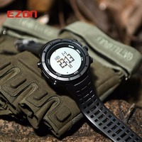 EZON Altimeter Barometer Thermometer Compass Weather Forecast Outdoor Men Digital Watches Sport Hours Climbing Hiking Wristwatch
