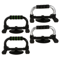 1 Pair Professional Fitness Push Up Bar Push Ups Stands Sit Up Bars with Comfortable Foam Grip and Anti Slip Suction Cup