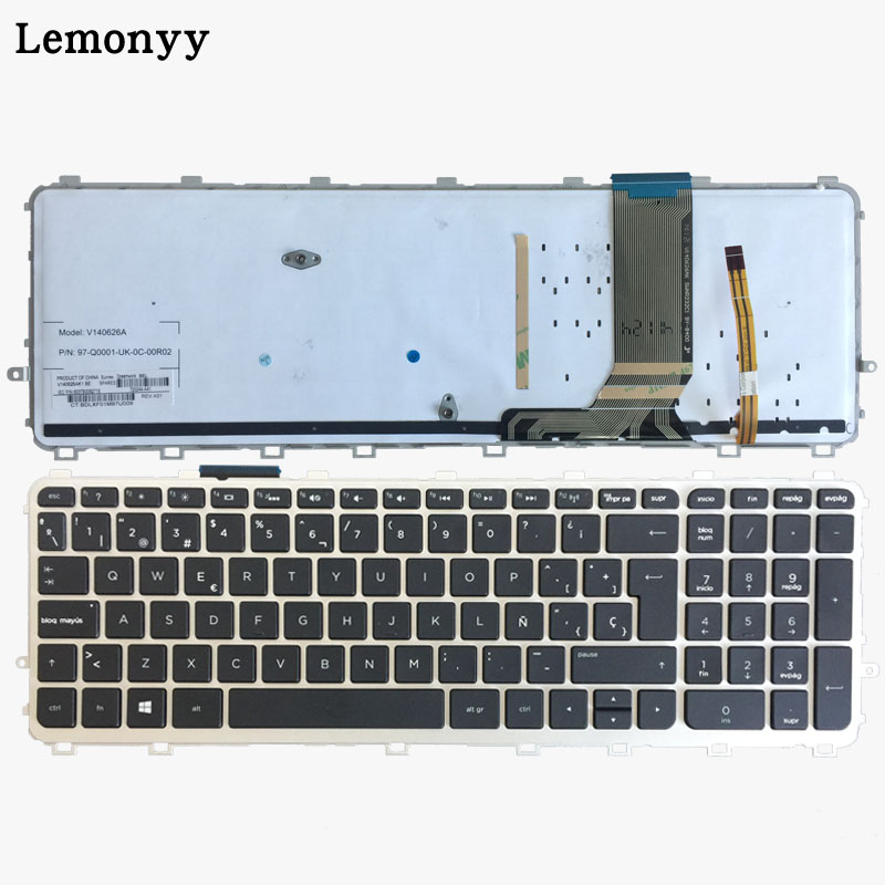 Spanish Laptop keyboards for HP envy 15-J 15T-J 15Z-J 15-J000 15t-j000 15z-j000 15-j151sr SP with frame with backlight keyboard universal aluminum alloy table flat bench vise drill press vise small vise for woodworking diy tool milling machine