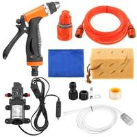 12V 70W Car Wash Car Washer Gun/ Pump High Pressure Cleaner Car Care Portable Washing Machine Electric Cleaning Auto Device
