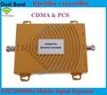 Mini Dual Band Ganho 65dBi Móvel Reforço de Sinal de Telefone GSM 850 MHz 1900 MHz PCS CDMA Repetidor de Sinal de Telefone Celular Amplificador de Sinal