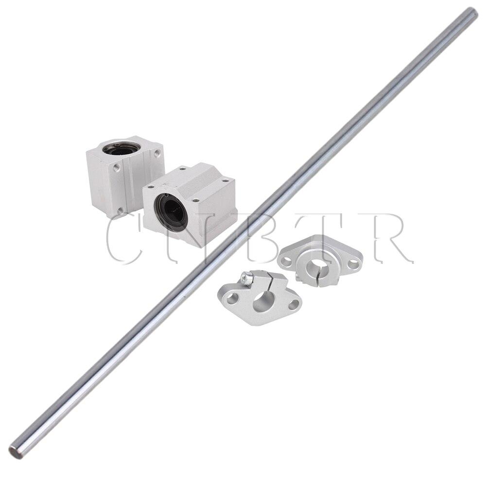CNBTR 5pcs 500mm 12mm Perpendicular Optical Axis Shaft Support Slide Bushing цены