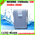 WCDMA 3G 2100mhz W-CDMA 5Watts 37dbm 85dbi mobile phone signal repeater Ship/Tunnel/Farm/Village/Desert signal construction