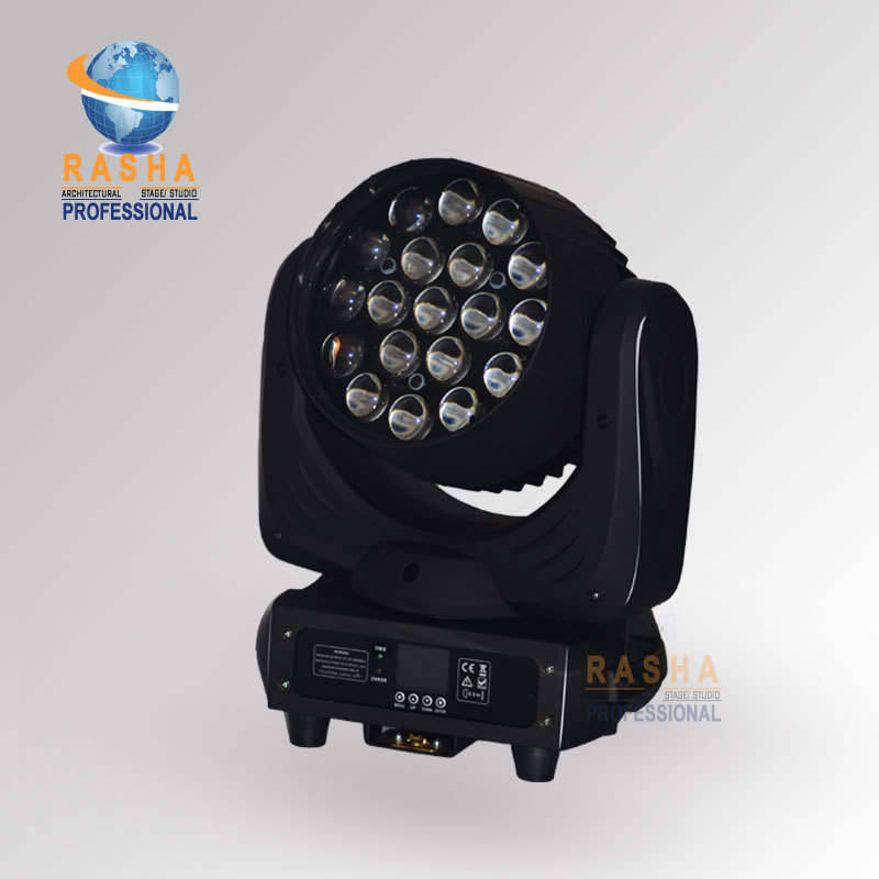 TONE New Arrival 19pcs*12W 4in1 RGBW LED Moving Head Beam+Wash+Zoom 3in1 With 16 Channels For Theater,TV Studio,Disco Stage