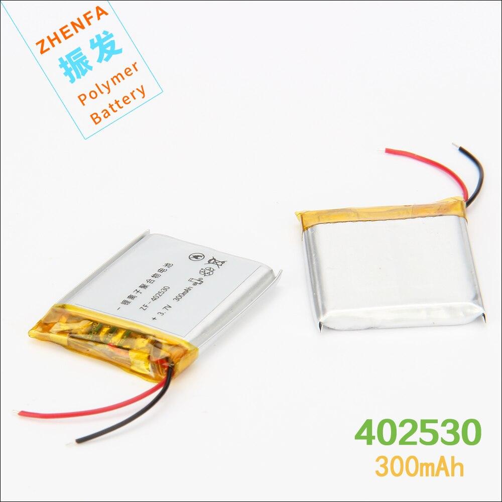 3.7 V 300 mAh 402530 Lithium Polymère li ion Rechargeable Batterie Pour Voiture GPS véhicule circulant enregistreur de données MP3 MP4 haut-parleur PSP