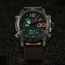 2017 New Luxury Brand NAVIFORCE Men Leather Military Watches Men's Quartz Analog Led Digital Sport Wrist Watch relogio masculino