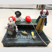 NECA Toys Stephen King's It Pennywise Accessory Set PVC Action Figure Collectible Model Toy