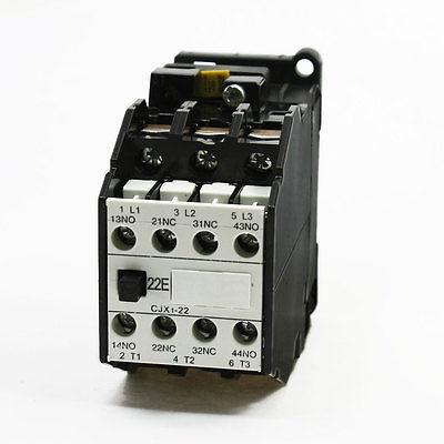 110V/50Hz 127V/60Hz Coil 3 Poles 35mm Mounting Rail AC Contactor CJX1-22A