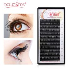 NEWCOME Eyelash Extension 0.03-0.25mm Thickness Individual 100%Handmade Eyelashes for Makeup