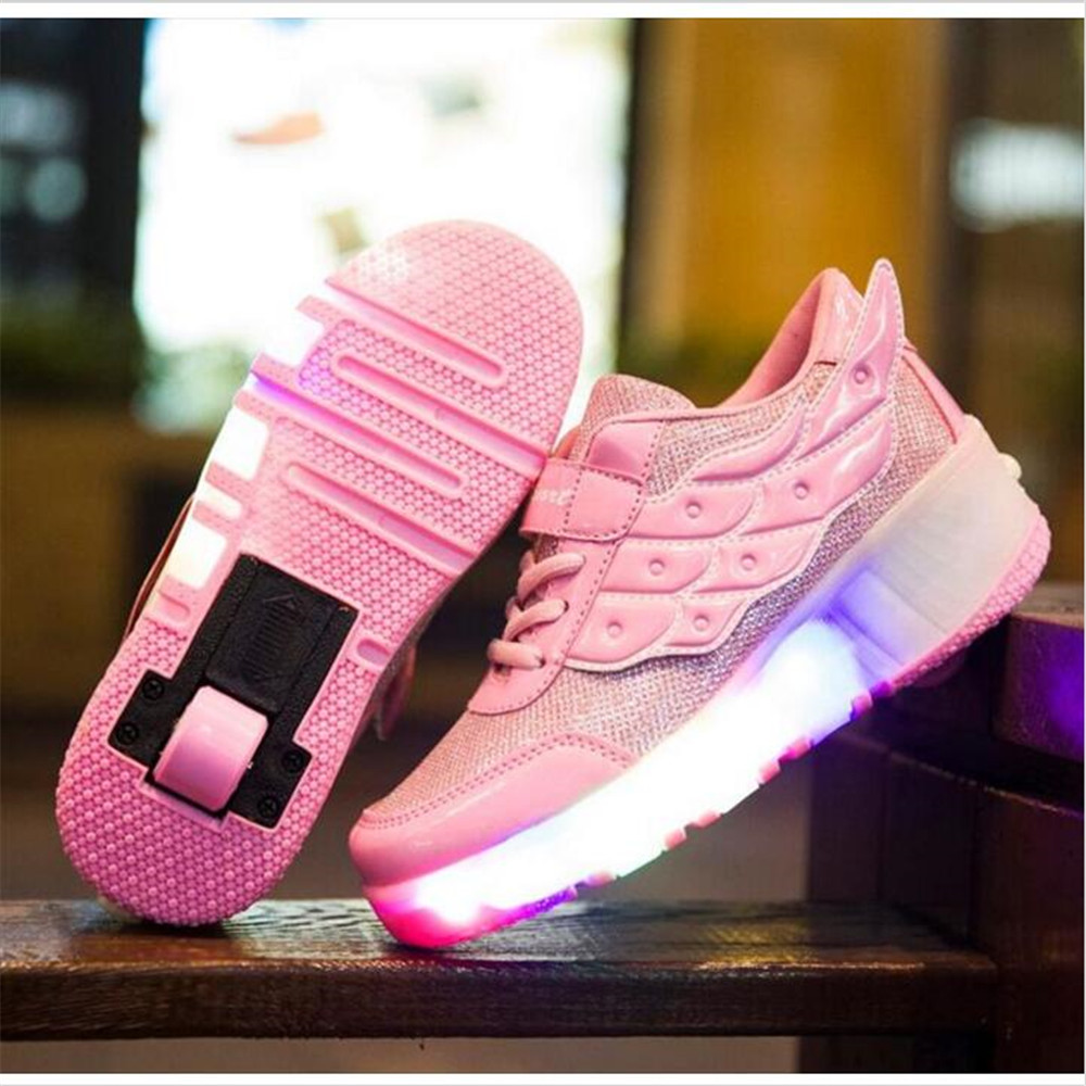 Roller shoes cheap - Size 29 40 2016 New Child Roller Shoes With Wheels Kids Shoes Sneakers For Children