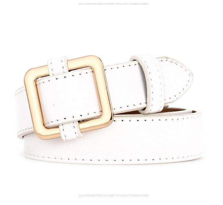 Горячая распродажа! женский ремень с пряжками и пряжками, с золотой пряжкой, для джинсов, для женщин, модные, студенческие, простые, повседневные брюки - Цвет: style 4 gold white