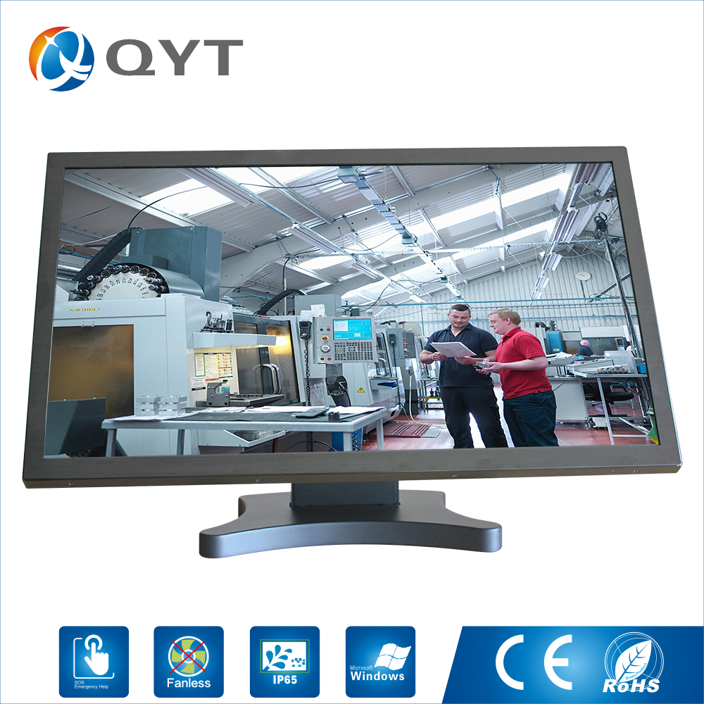 Embedded computer 1920X1080 4GB ddr4 32G ssd 24inch Industrial all in one pc with N3150 1.6GHz USB/WIFI/rs232/VGA-in Desktops from Computer & Office