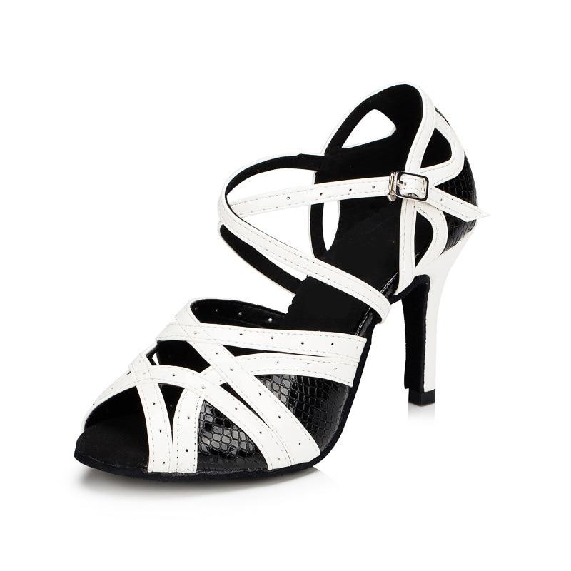 Women Ballroom Latin Dance Shoes Female Salsa Social Party Shoes Samba Tango Dance Shoes High Heel 6/7.5/10cm Soft Sole T30684