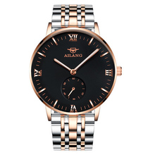 AILANG designer watches men's automatic mechanical watch fashion men's black dial simple 6 o'clock small seconds watch