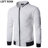 LEFT ROM Men The Spring Autumn Fashion High Grade Pure Color Stand Collar Business Leisure Travelers