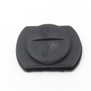 1 pièces de rechange 2 boutons en caoutchouc pour MITSUBISHI COLT guerrier télécommande porte-clés