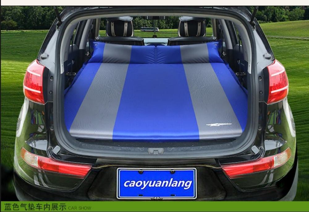 Car Inflatable Mattress - Seat Travel Bed Air Bed Cushion Travel Beds Sofa with Pump Camping Moisture-proof Pad Outdoor for SUV durable thicken pvc car travel inflatable bed automotive air mattress camping mat with air pump