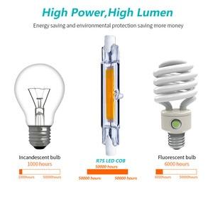 Image 5 - R7S 118 ミリメートル COB ミニガラス管 LED 15 ワット 9 ワット交換ハロゲンランプ 220 V 240 V r7S 78 ミリメートル強力な Led スポットライト電球